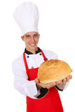 Chef with Bread Stock Photo