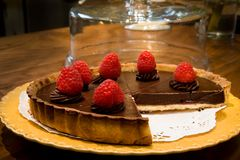 Chef Bubbies Simple Torte. Chocolate Rasberry Torte Stock Photography