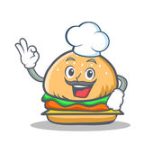 Chef burger character fast food Stock Photo