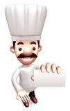 Chef business cards a present. 3D Chef Character Stock Photos