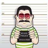 Chef- Busted van de gangster Stock Afbeeldingen