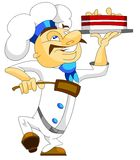Chef with a cake Royalty Free Stock Images