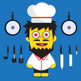 Chef cartoon boy Royalty Free Stock Photography