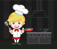 Chef cartoon cute character Royalty Free Stock Photography