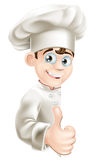 Chef cartoon giving thumbs up sign Stock Photography