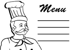 Chef cartoon with menu Royalty Free Stock Images