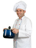 Chef and casserole Stock Image