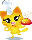 Chef cat. Color  draw Stock Photo