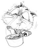 Chef cat fish sea food cooking in pot smell is very good Stock Images