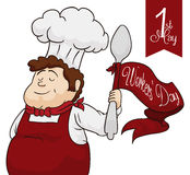 Chef Celebrating Workers' Day, Vector Illustration Royalty Free Stock Photos