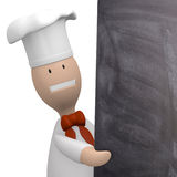 Chef with chalkboard Stock Photos