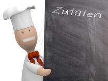 Chef with chalkboard Royalty Free Stock Image