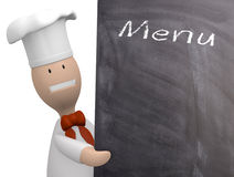 Chef with chalkboard Stock Images
