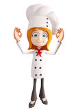 Chef character with best sign Royalty Free Stock Photos