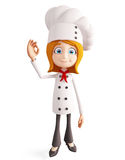 Chef character with best sign Stock Photography