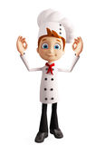 Chef character with best sign Stock Photo