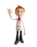 Chef character with bye pose Stock Images