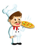 Chef Character de pizza Photos libres de droits