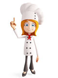 Chef character with pointing pose Royalty Free Stock Images