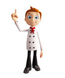 Chef character with pointing pose Stock Images