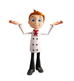 Chef character with presentation pose Royalty Free Stock Photography