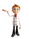 Chef character with presentation pose Stock Images