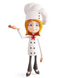 Chef character with  presentation sign Royalty Free Stock Photos