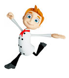 Chef character with running pose Stock Photos