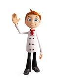 Chef character with  saying hi pose Royalty Free Stock Images