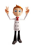 Chef character with win pose Stock Image