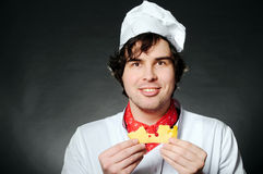 Chef with cheese Stock Photos