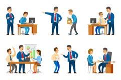 Chef- Chief Executive Presenting-Strategieseminarie stock illustratie