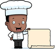 Chef Child Menu Stock Photography