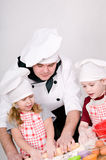 Chef with children Stock Images