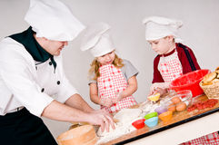 Chef with children Stock Photography