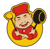 Chef chinese. Cartoon  design Royalty Free Stock Images