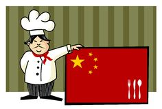 Chef of chinese cuisine Royalty Free Stock Images