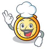 Chef chronometer character cartoon style Stock Photos