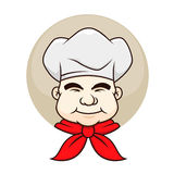 Chef with a chubby face. Vector illustration of a chef with a chubby cheek Royalty Free Stock Photography