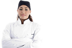 chef close female professional up view Στοκ Φωτογραφία