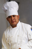 Chef Close Up. Close up chef wearing white clothes royalty free stock image