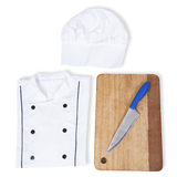 Chef clothes and kitchen tools Stock Photography
