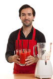 Chef cocktails blender Stock Images