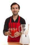 Chef cocktails blender Stock Images