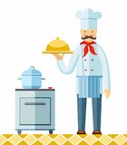 Chef, color image. Stock Photos