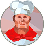 Chef Cook Baker Head Low Polygon Royalty Free Stock Images