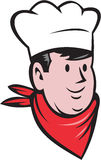 Chef Cook Baker Head Scarf Cartoon Royalty Free Stock Image