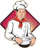 Chef Cook Baker Mixing Bowl Cartoon Stock Photos