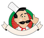 Chef Cook Banner. Illustration of a cartoon chef cook banner Stock Images