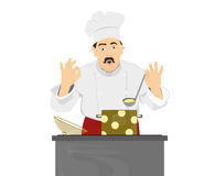 Chef cook cooking dinner Royalty Free Stock Image